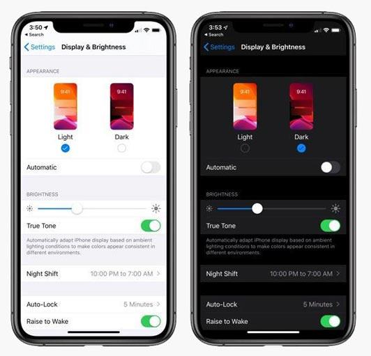 Apple iOS 13 – Features & Changes - Dark Mode